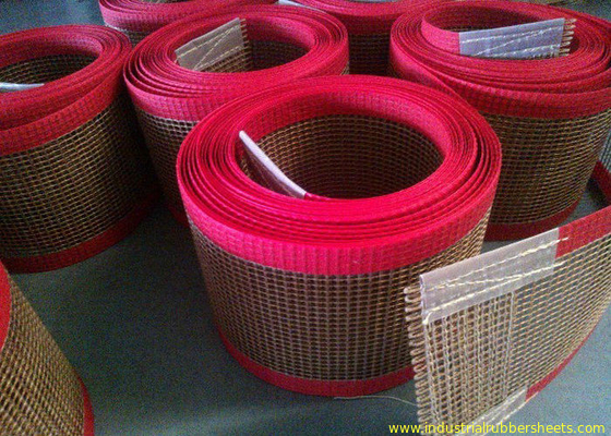 China PTFE polyester mesh fabric , PTFE polyester mesh fabric for conveyor belt / griddling cloth, made by PTFE coated fabriek
